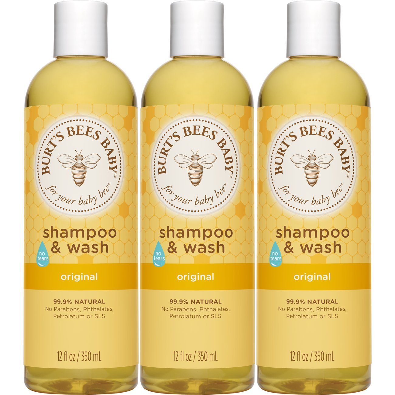 Burt's Bees Baby Shampoo & Wash, Original, 12 Ounces (Pack of 3) (Packaging May Vary) Burt's Bees