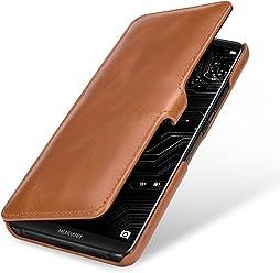 StilGut Book Type Case, custodia per Huawei Mate 10 Pro a libro booklet custodia orizzontale, cover apertura laterale in vera pelle