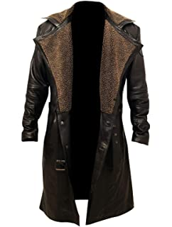 Blade Runner 2049 Ryan Gosling Jacket Fur Genuine Leather Fashion Coat For Men/'s