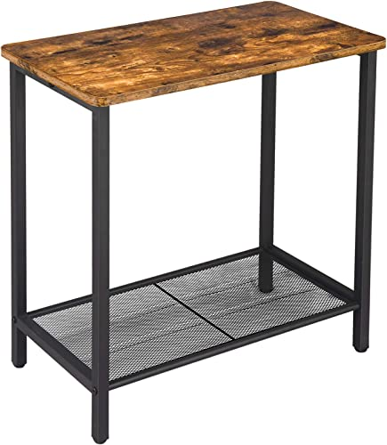 BEEWOOT End Table,Simple Rustic Side Table