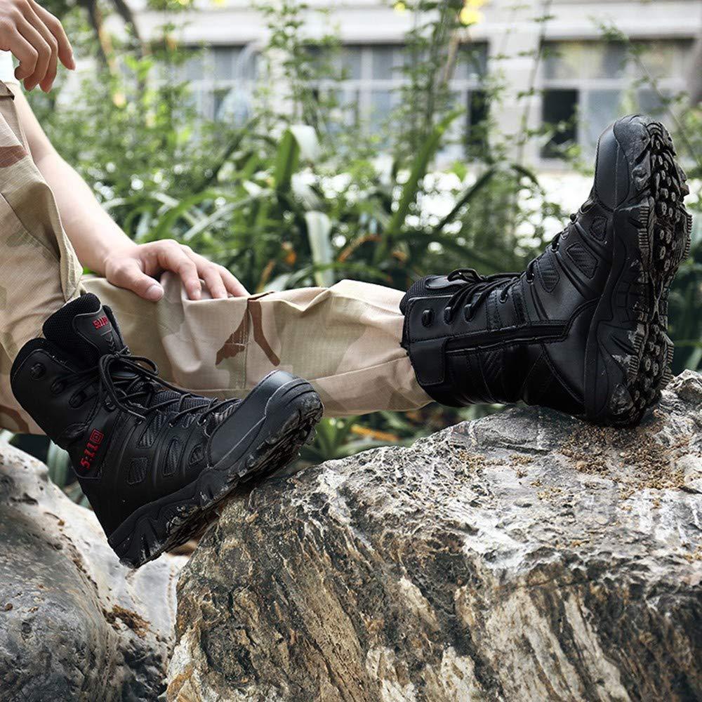 MAYOGO Militärstiefel Militärstiefel Militärstiefel Herren Mountaineering Stiefel Schneeschuhe Schwarz Khaki,Männer Stoßdämpfung Outdoor Klettern Mountaineering Stiefeletten für Männer Zwei Stile 39-47 135f3e