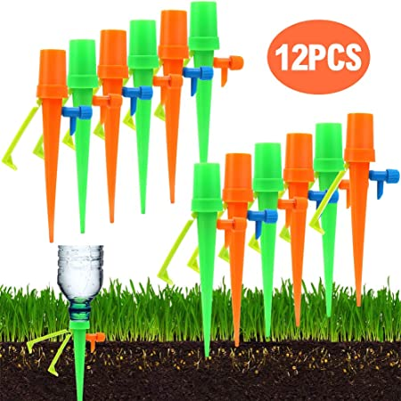 12Pcs Automatic Watering Spikes Device Plant Flower Drip Valve Irrigation System