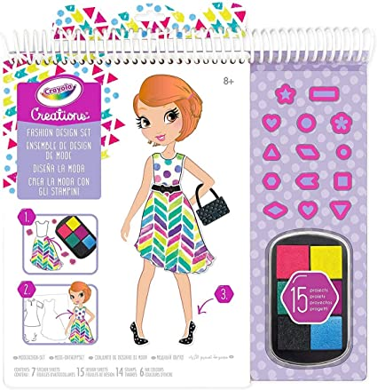 Amazon Com Crayola Creations 04 0567 Make Your Own Fashion Collection Game And Gift Colour Toys Games