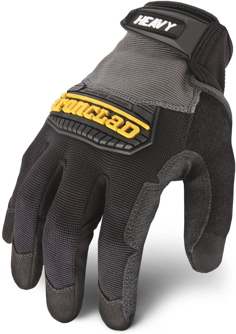 B00004XOHA Ironclad Heavy Utility Work Gloves HUG, High Abrasion Resistance, Performance Fit, Durable, Machine Washable, Sized S, M, L, XL, XXL (1 Pair) 71Hl62RzS-L