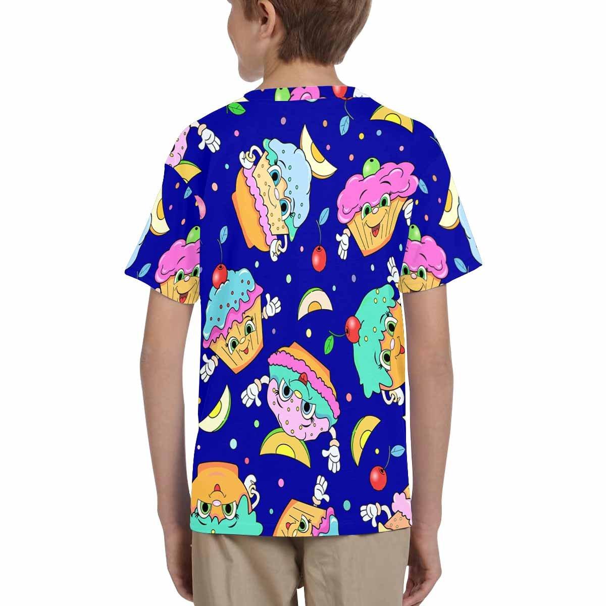 XS-XL INTERESTPRINT Cartoon Funny Cakes Kids T-Shirt