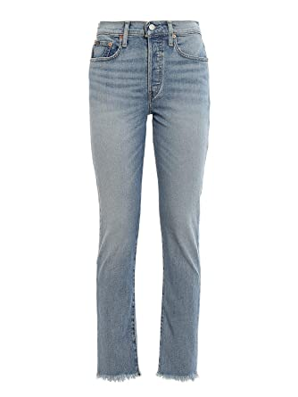 Polo Ralph Lauren calln HR SLM-Slim-Denim BLU Donna 26: Amazon.es ...