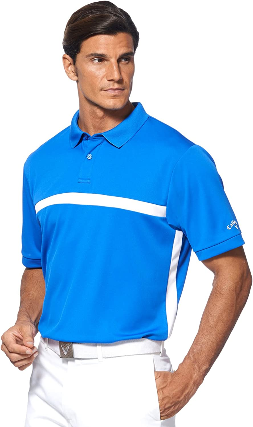 Callaway Big and Tall Opti-Cool Color Block Polo Shirt