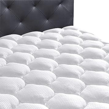 twin xl mattress pad amazon Amazon.com: Ecomozz Twin XL Mattress Pad Cover with (8 21