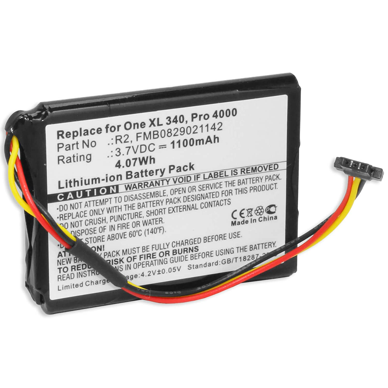 Batteria per TomTom One XL, XL 340(S), XXL / One XL 30 serie / XL Live, Holiday, IQ… - vedi lista dei dispositivi compatibili