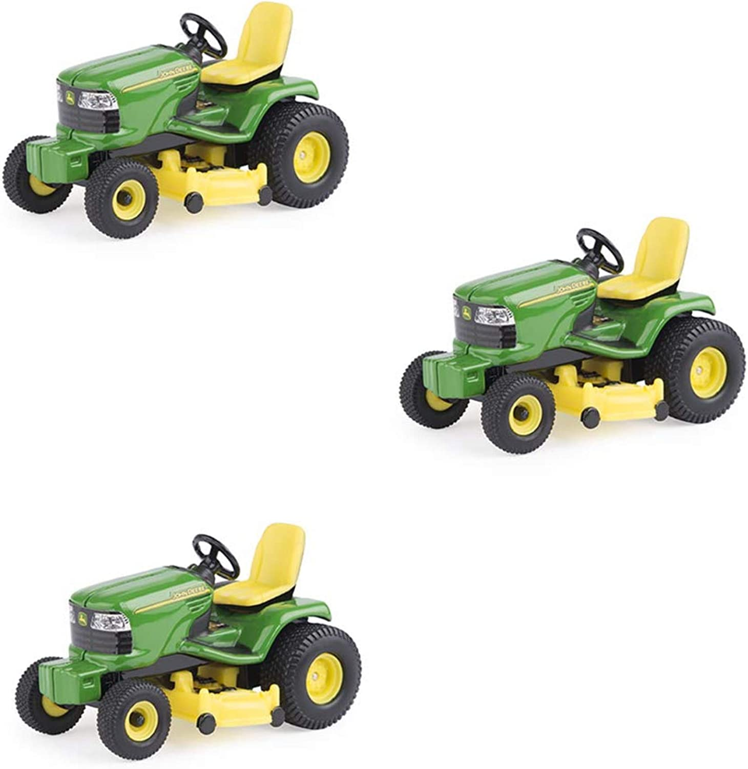 John Deere Lawn Tractor 1/32 Scale, Green, Yellow
