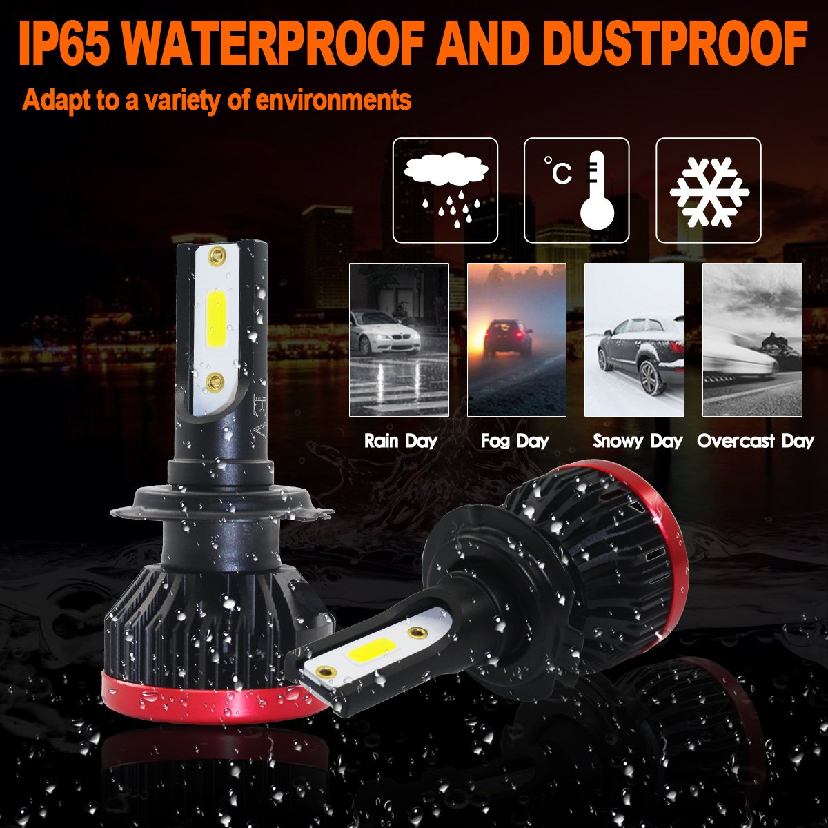 """SWOO CAR 2 Pcs 126W LED Work Lamp 42 LED CHIP 4/""""Offroad Flood Beam Light DRL SUV Truck UTE 12600LM 12V-36V 6 Rows Projector Boat Wharf Working Lamp Searchlight Projector Spotlight Pods Fog Lamp IP67"""