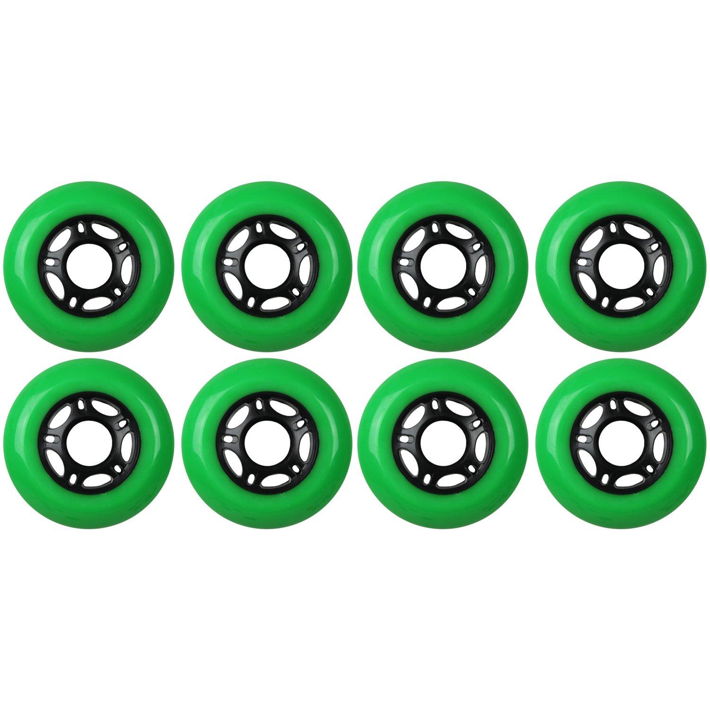 KSS Outdoor Asphalt Formula 89A Inline Skate X8 Wheels, Green, 72mm
