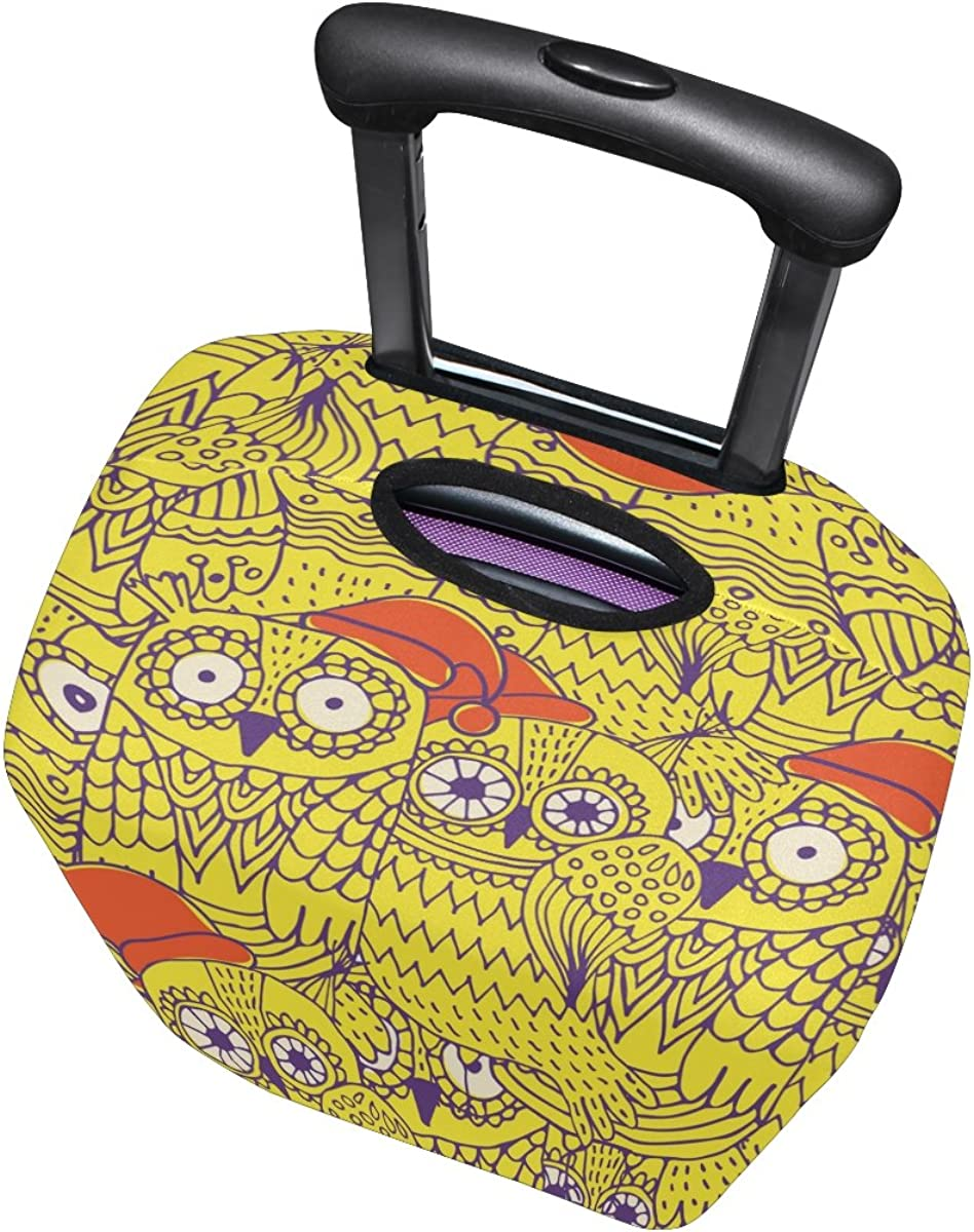 LAVOVO Cute Owls Luggage Cover Suitcase Protector Carry On Covers
