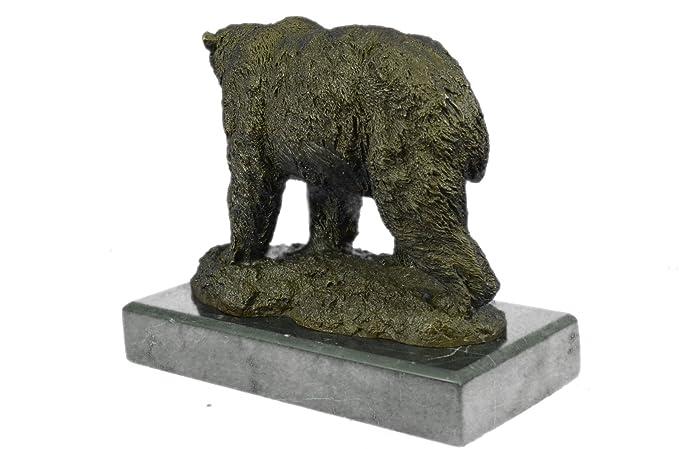 Hecho a mano raro bronce escultura bronce estatua Original por Milo Oso Polar Art Deco clásico Wildlife figurine-euxn-2133- Decor Coleccionable de regalo: ...