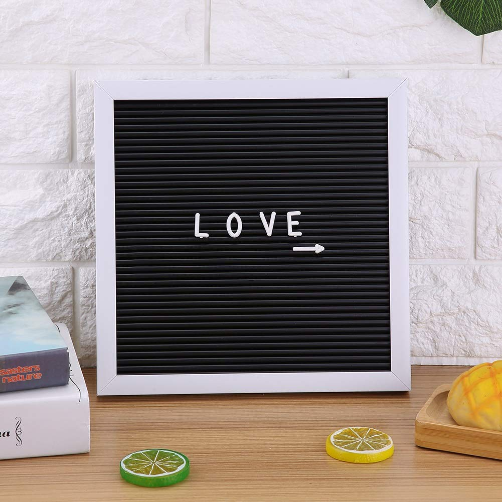 Lettera Bordo di Feltro Nero Lettera Lettera Segno Bordo Numeri intercambiabili Message Board for Arredamento Camera 25 Centimetri * 25cm
