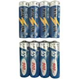 KINSUN 8-Pack Rechargeable Batteries 1.2V Ni-Cd AA 900mAh for Outdoor Solar Garden Lights