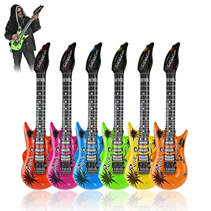 35quot Rock Star Inflatable Guitar Toy Set Assorted Color For Themed Party80s