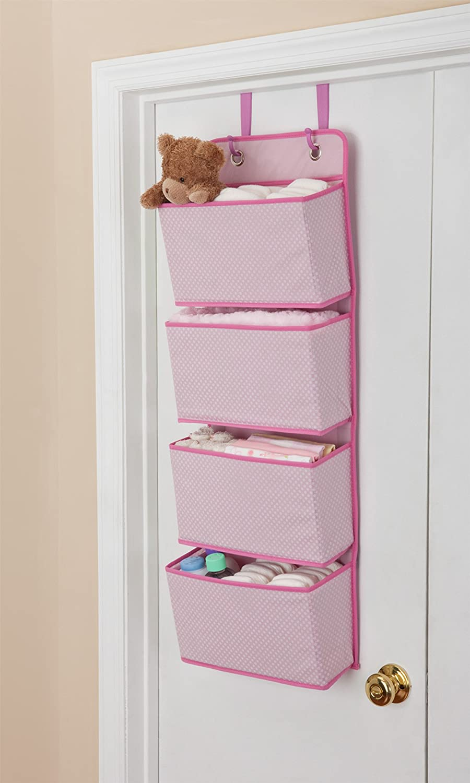 Beige//Tan Delta Children 4 Pocket Over The Door Hanging Organizer 2 Pack