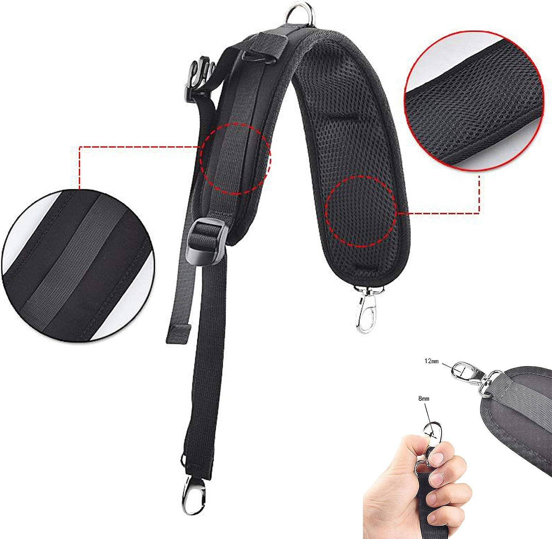 Hellery Sac /à Dos Bretelles R/églable Remplacement Bandouli/ère avec Clips et Crochets Bande R/éfl/échissante pour Sport en Plein Air Sacs Noir