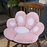 Reversible Armchair Seat Cushion Soft Cozy Bear Paw Shaped Chair Cushion Plush Comfort Seat Pad Office Cozy Warm Seat Pillow