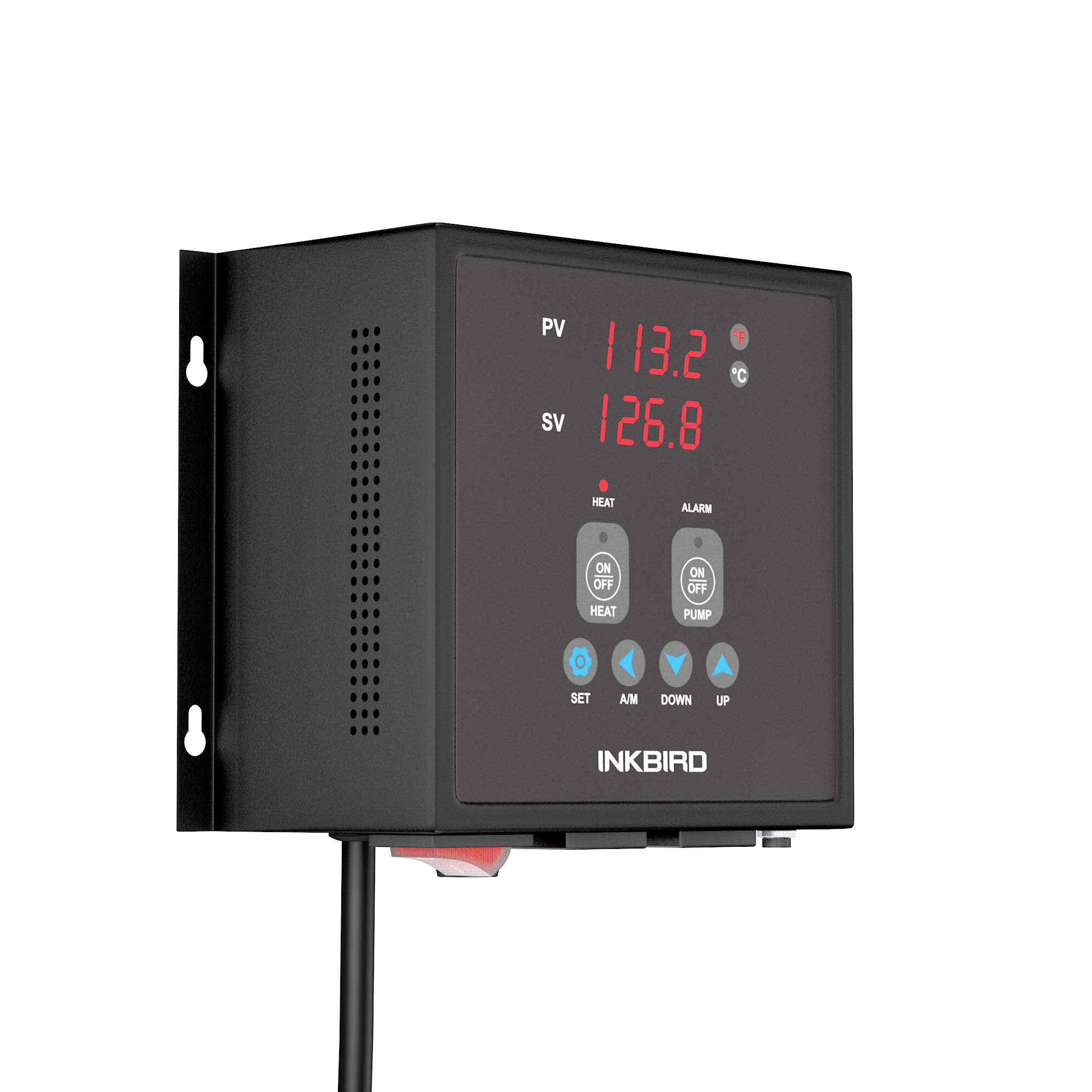 Inkbird PID Thermostat Digital Temperature Controller Alarm 1800W 120V 15A Pre Wired Output NTC Sensor R25 ℃ 10KΩ Waterproof Probe Heat Cool On Off Pump Control IPB16S by Inkbird