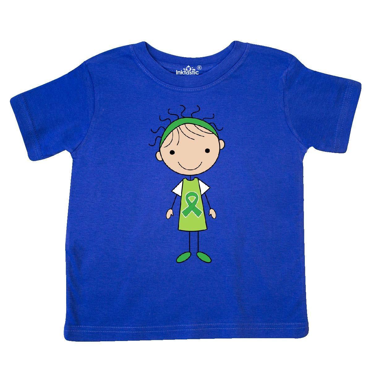 inktastic Awareness Green Ribbon Girl Toddler T-Shirt