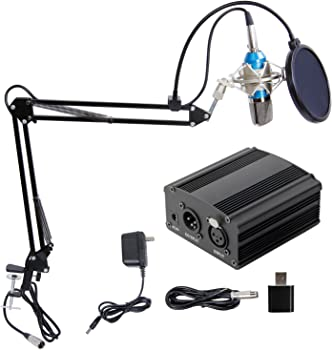 TONOR Pro Condenser Microphone w/ Phantom Power & Sound Card