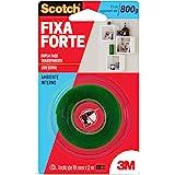 Fita Dupla Face 3M Scotch Fixa Forte Transparente - 19 mm x 2 m