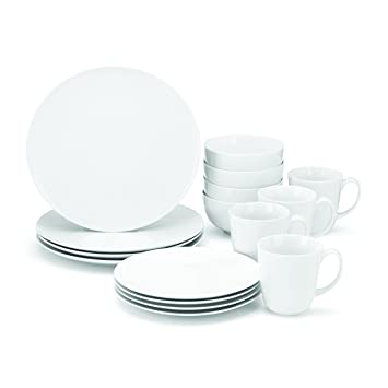 Food \u0026 Wine For Gorham The Entertainer 16-Piece Dinnerware Set  sc 1 st  Amazon.com & Amazon.com | Food \u0026 Wine For Gorham The Entertainer 16-Piece ...