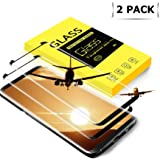 tengsu Screen Protector for Galaxy S8 (2-Pack), [Care Fridendly] [3D Touch Compatible] HD Clear and Bubble-Free Tempered Glass Screen Protector for S8
