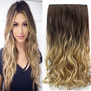 Amazon neverland beauty 24 synthetic curly two tone ombre neverland beauty 24quot synthetic curly two tone ombre hairpiece clip in hair extensions 3 pmusecretfo Gallery