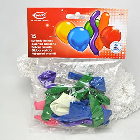 7305ce15507e8 EVERTS Latex Balloons Assorted Colours Pack of 15
