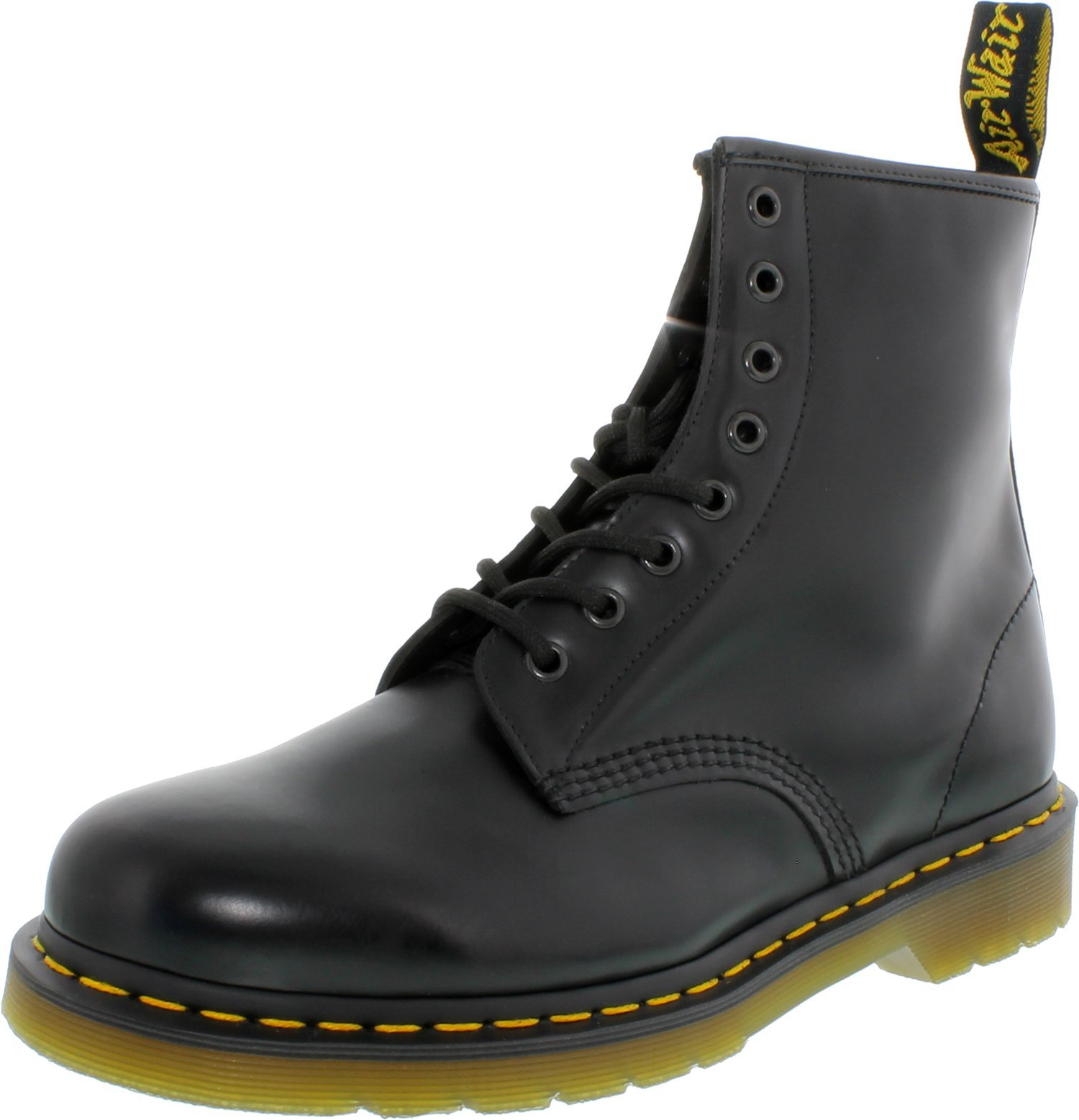 Dr. Martens Unisex 1460 8 Eye Black Smooth Unisex Boots in Size 11 men US (10 UK / 45 EU) Black
