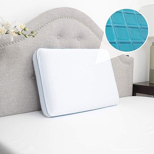 Bed Pillows Foam Cool Gel Hypoallergenic Comfort Sleep Set Of 2 Hotel