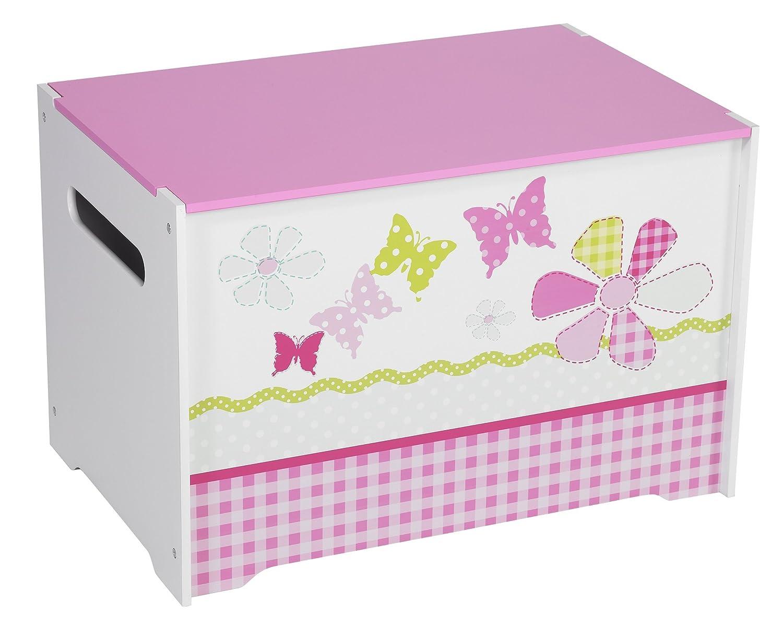 Schmetterlinge und Blumen - Spielzeugkiste für Kinder – Aufbewahrungsbox für das Kinderzimmer Worlds Apart 474GGL01