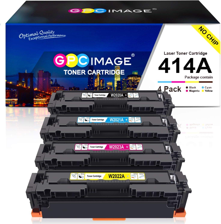GPC Image Compatible Toner Cartridge Replacement for HP 414A W2020A W2021A W2022A W2023A to use with Color Laserjet Pro MFP M479fdw, M479fdn, M454dw, M454, M454dn Printer (Black,Cyan,Magenta,Yellow)