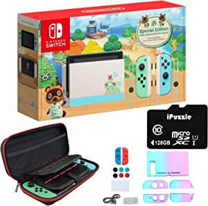 Newest Nintendo Switch Animal Crossing: New Horizons Edition with Green and Blue Joy-Con - 6.2