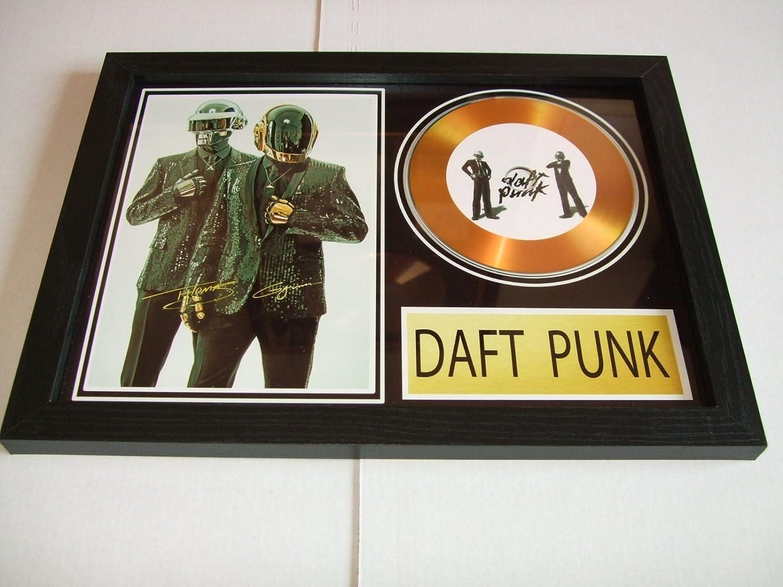 gold disc frames Daft Punk dédicacé Disque d'or home disc
