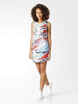 Adidas Tank Dress Vestido, Primavera/Verano, Mujer, Color Mehrfarbig - (MULTCO