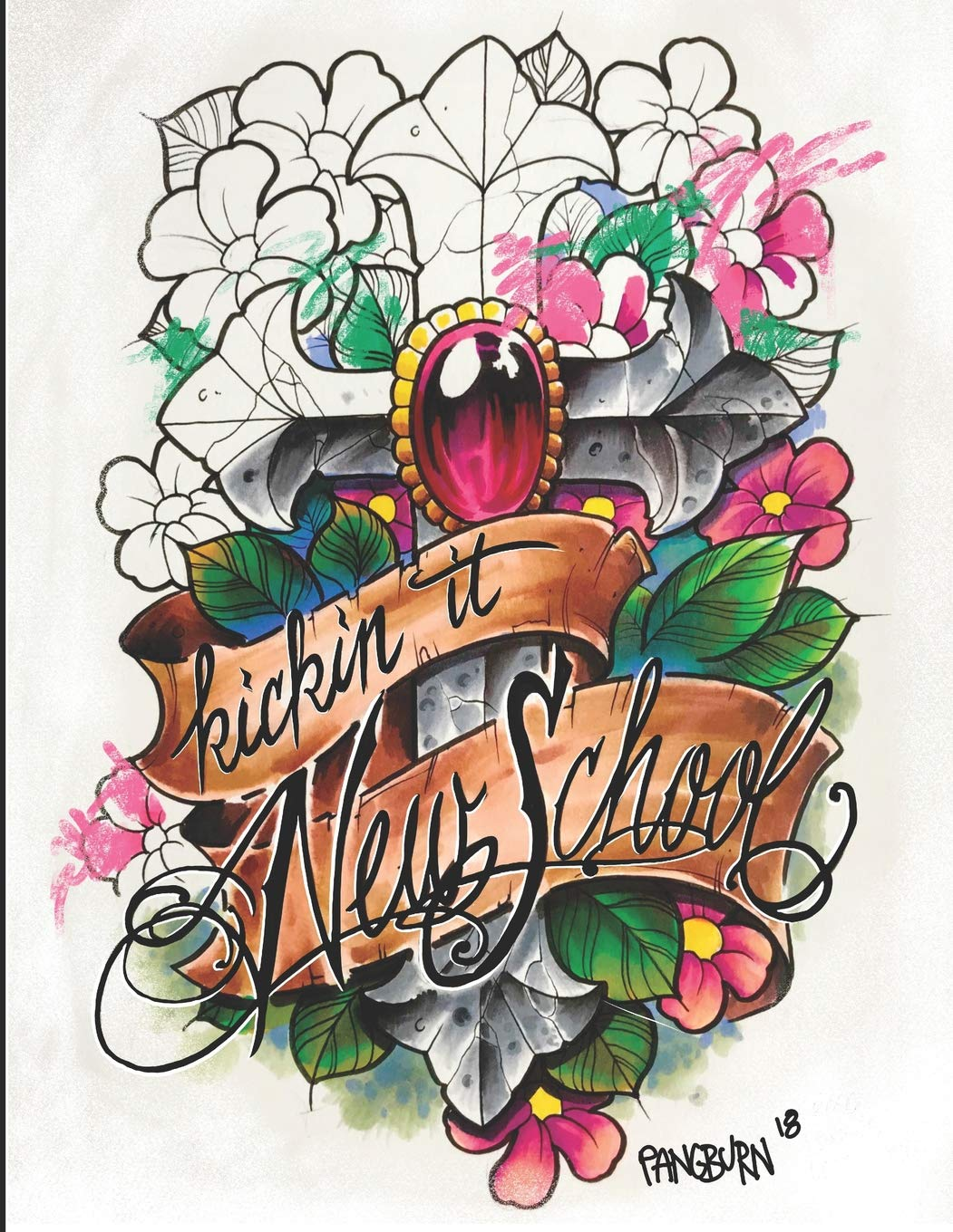 Kickin it New School: An adult coloring book of illustrative ...