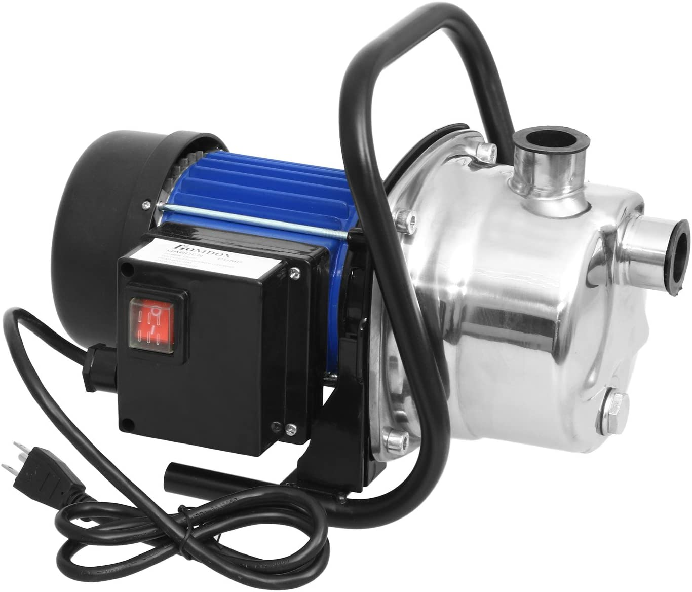 1.6HP Stainless Steel Water Pump Electric Transfer Pump Portable Home Garden Lawn Sprinkling Booster Pump (US Stock) (1.6 HP)