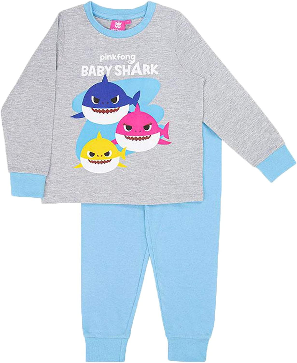 Rujia Boys Toddler Baby Shark Pyjamas Size 18-24 Months to 4-5 Years