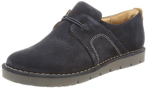 Clarks 261218815 - Mocasines de Ante para Mujer, Color Azul, Talla 42,5: Amazon.es: Zapatos y complementos