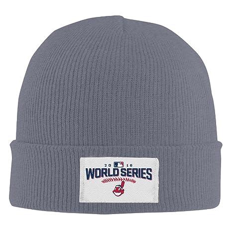 Cleveland Indians World Series 2016 Indians Beanie Hats For Men Women  Asphalt (4 Colors)  Amazon.ca  Clothing   Accessories e08309d83