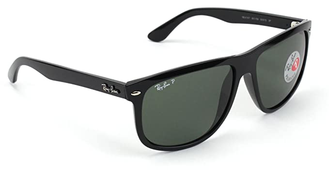 916ef2702ee Image Unavailable. Image not available for. Color  Ray-Ban RB4147 Polarized  Square Unisex Sunglasses ...