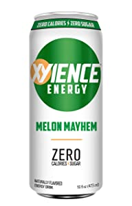 XYIENCE Energy Drink | Melon Mayhem | Sugar Free | Zero Calories | Natural Flavors | Vitamin Fortified, 16 Fl Oz (Pack of 12)