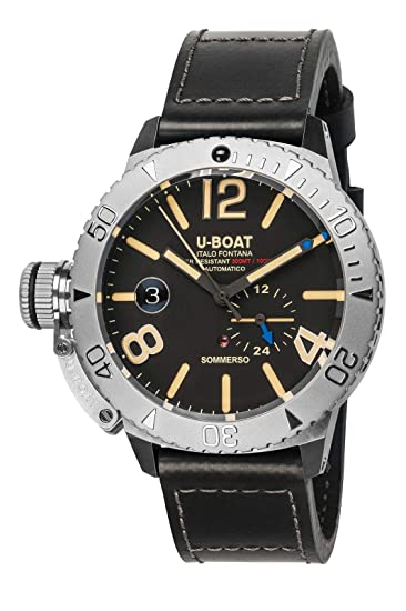 u boat sommerso  U-BOAT SOMMERSO orologi uomo 9007A: : Orologi