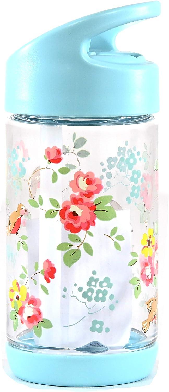 Botella de agua color azul cielo dise/ño de p/ájaros y flores 300 ml Cath Kidston