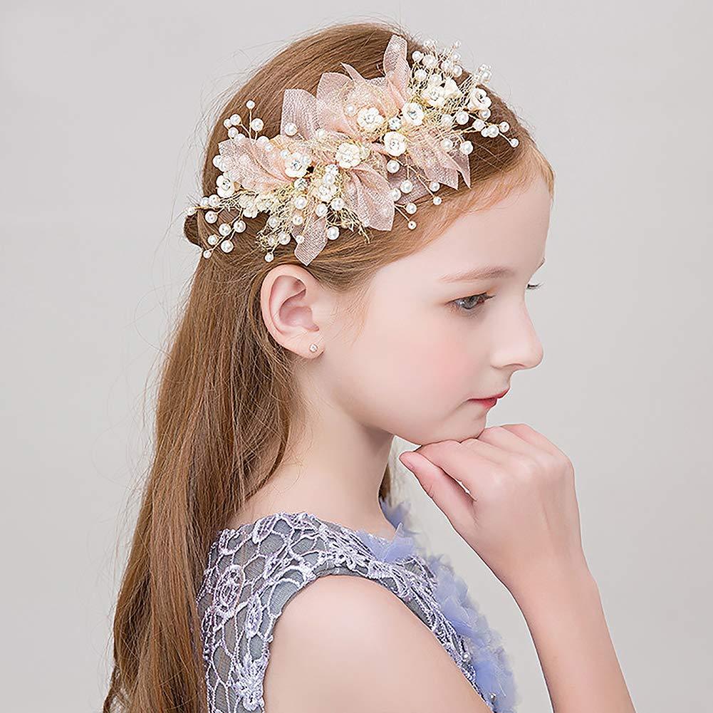 Flower Party Pearl Head Band Handmade Tiara Bride Headwear Hair Accessories