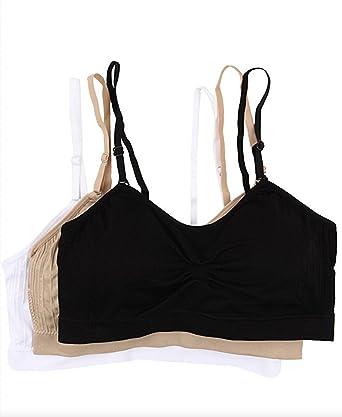 4975f1334865d Amazon.com  Coobie Women s Strappy Scoopneck 3-Pack Neutrals Black ...
